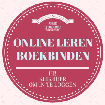 online leren boekbinden button login