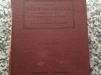 Het nieuwe kookboek. Vraag van de eigenaar was om het boek te herstellen met behoud van alle 'ingrediënten'.